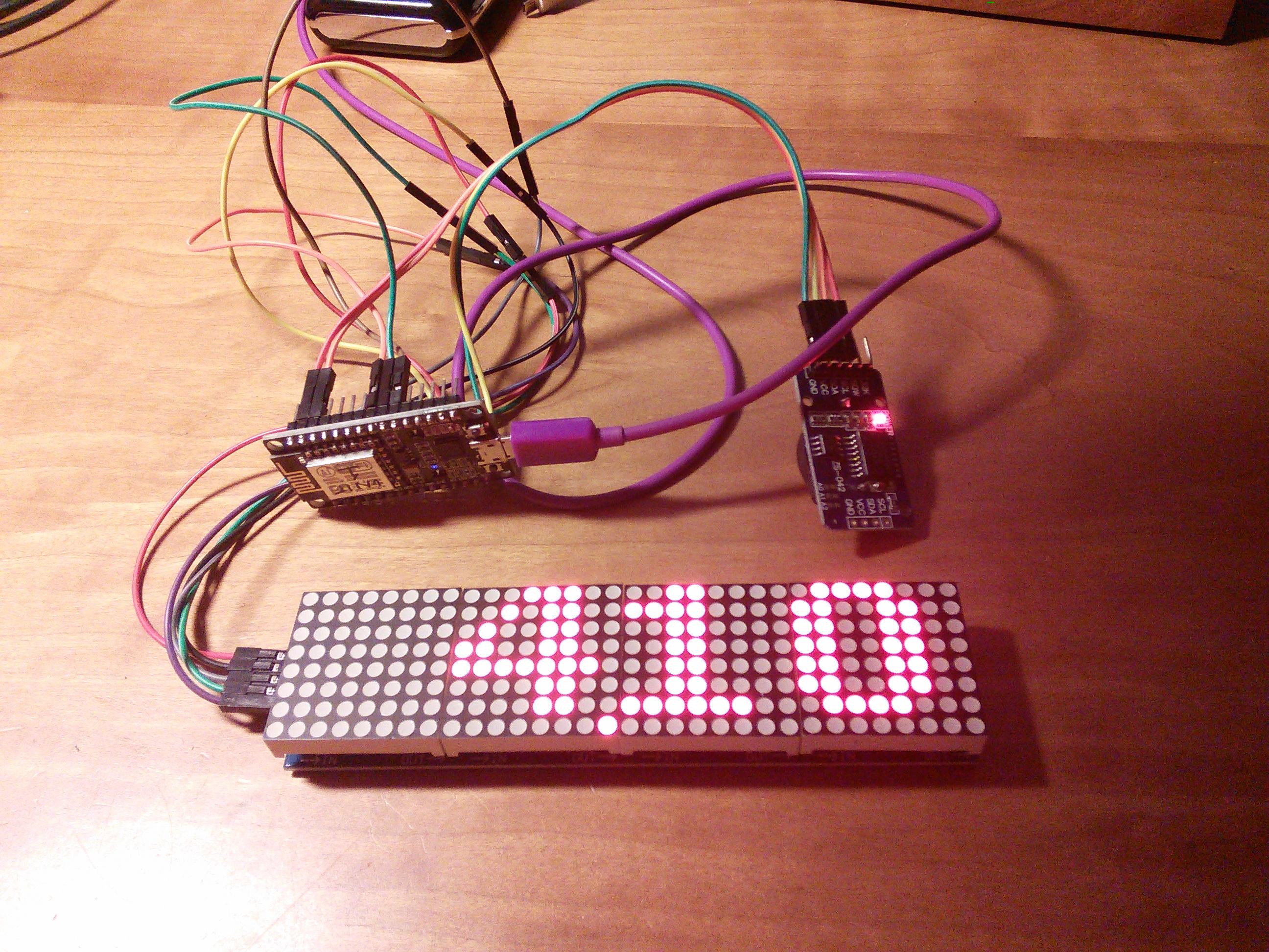 Picture of Simple Dot Matrix Clock Using Node MCU