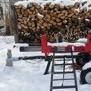 Simple Pallet Fire Wood Rack and IBC Tote Roof