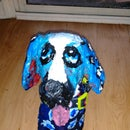 Cute Folk Dog Upcyle Paper Mache