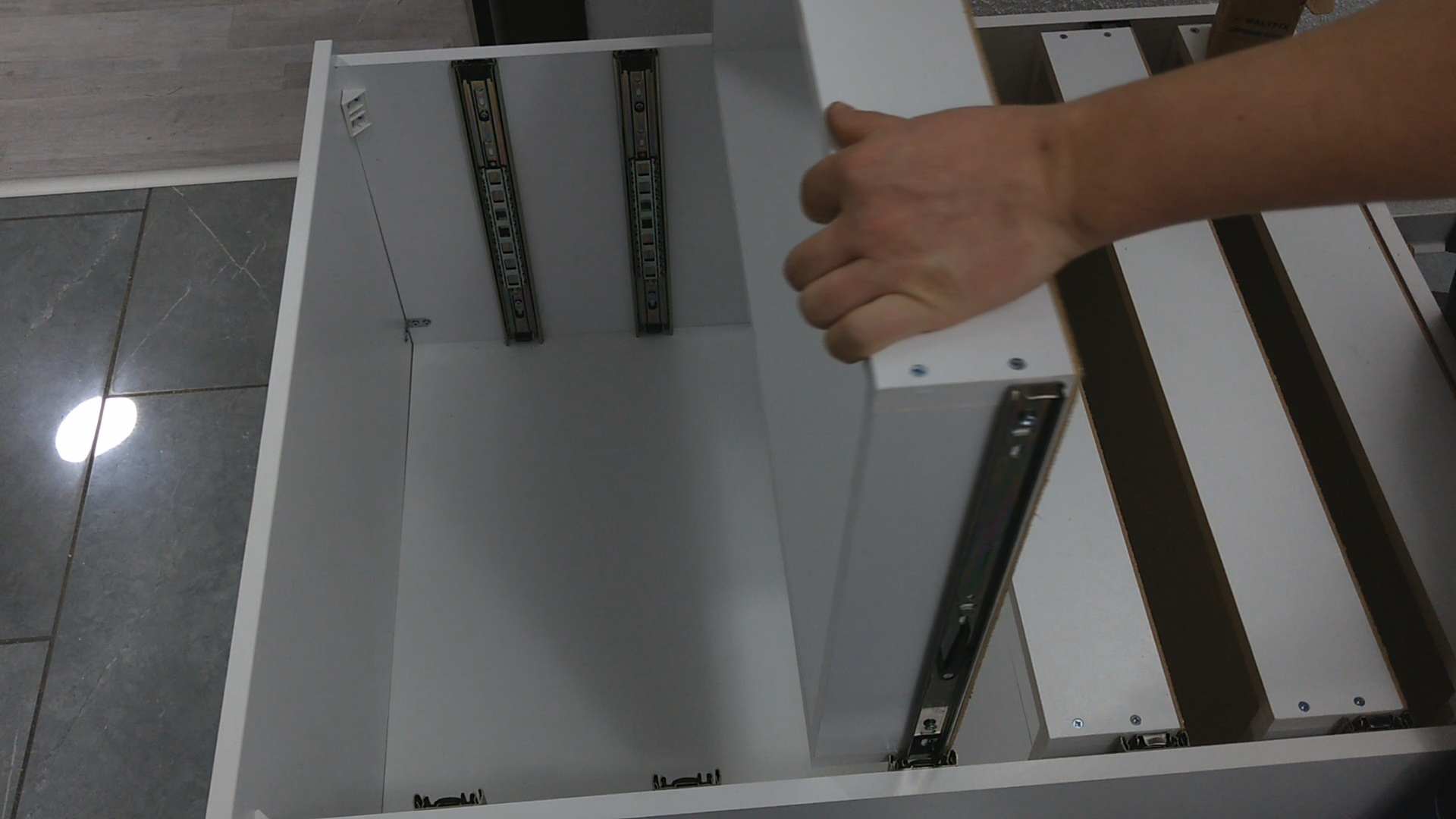 Picture of Install Drawers Hardware