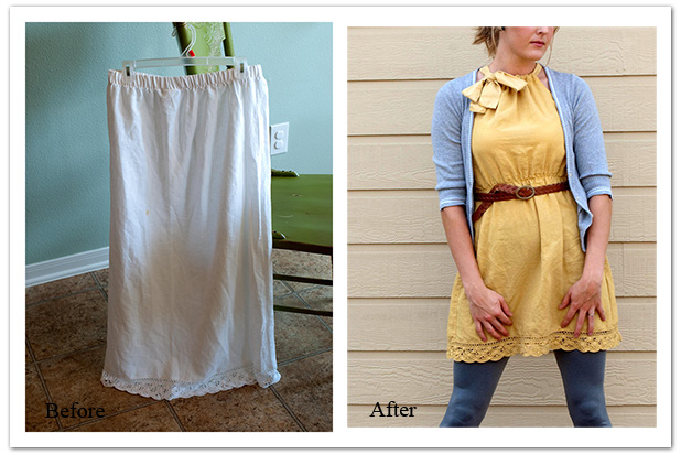 Picture of DIY Skirt to Dress Refashion