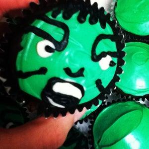 Incredible Hulk Cupcakes