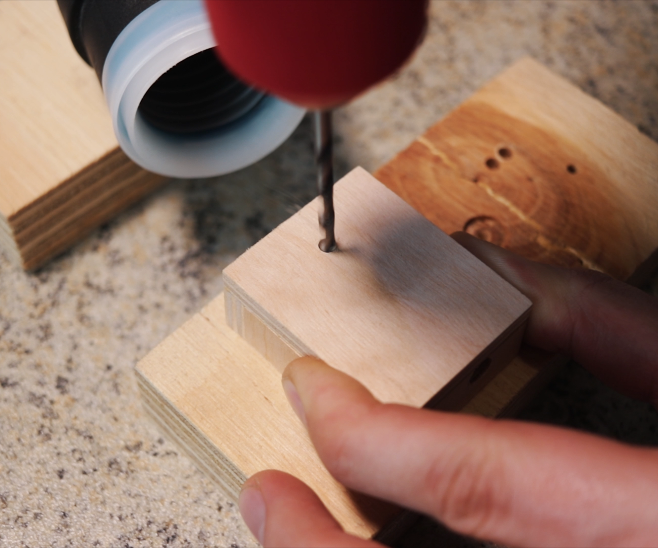 Picture of Drilling Holes in the Box