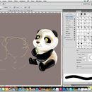 Drawing a panda (PSD steps)