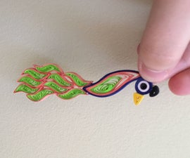 Quilled Peacocks