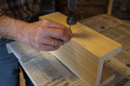 Glue & Assemble Miter Box