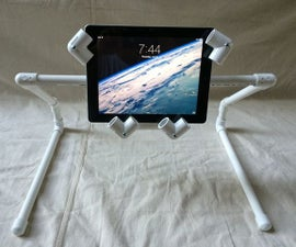 An iPad / Tablet PVC Stand Anyone Can Make!