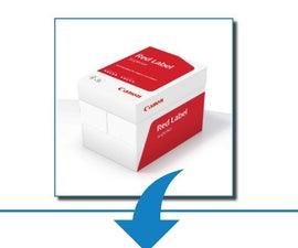 TRANSFORM A4 BOX into PAPER ORGANISER BOX AND TRAY