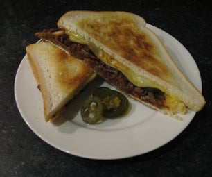 Pulled BBQ Beef, Leerdamer, and Jalapeno Toasties