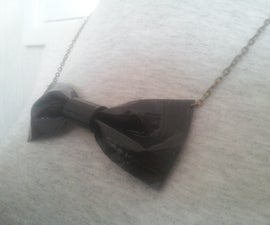 Duct Tape Feather & Bow Necklaces!