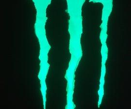 "How to make a ""Mega Monster Energy"" Decorative Light"