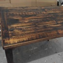 Re-Purposed Wood Dining Table