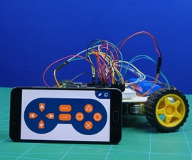 4 Wheel Robot Made With Arduino Controlled Using Dabble