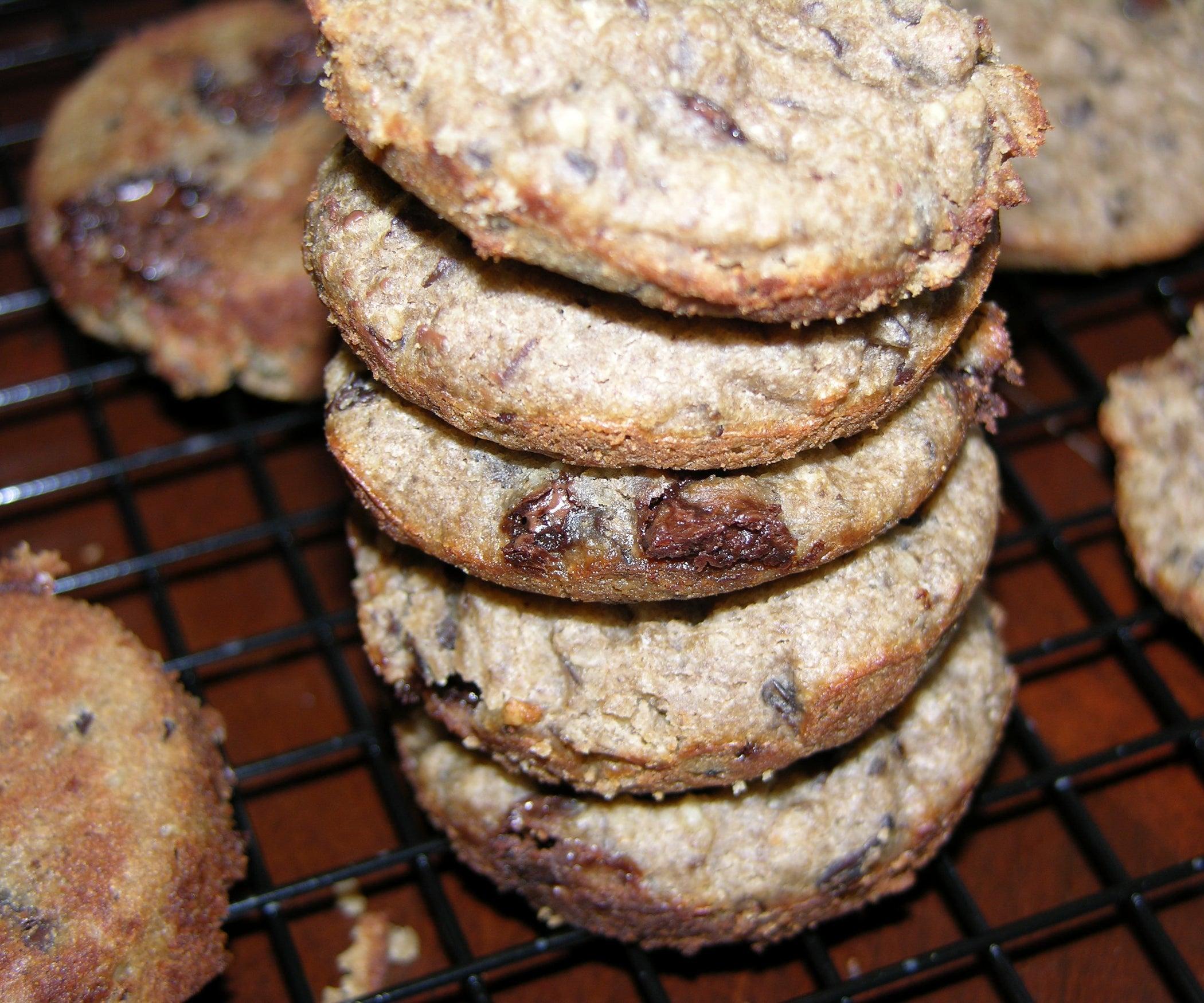 Red Bean Chocolate Chip Cookies (Gluten-Free/Vegan)