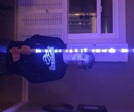 Homemade lightsaber
