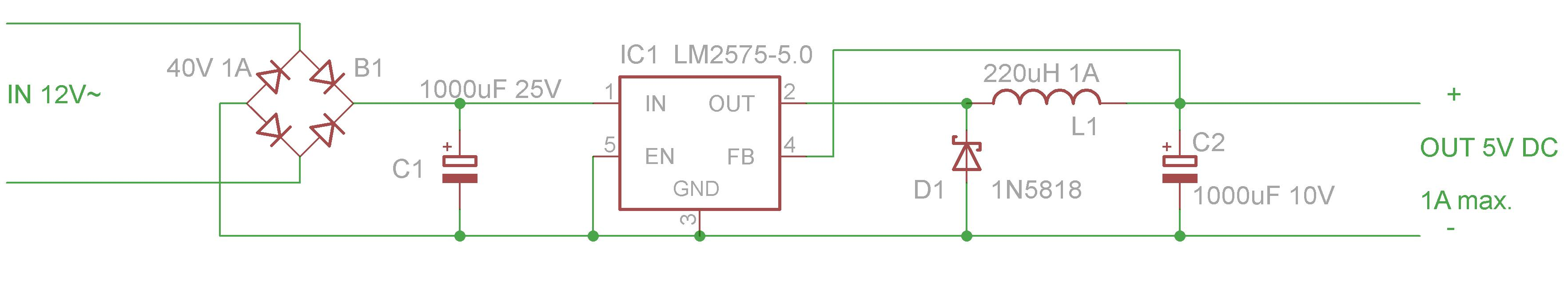 Picture of Make the 5V Regulator Circuit...