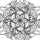 Easy Star Wars Snowflakes and Mandalas to Print and Color - Using GIMP