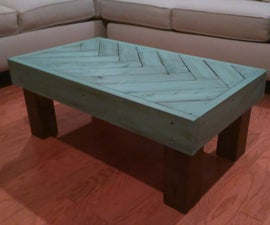 Rustic Herringbone Coffee Table