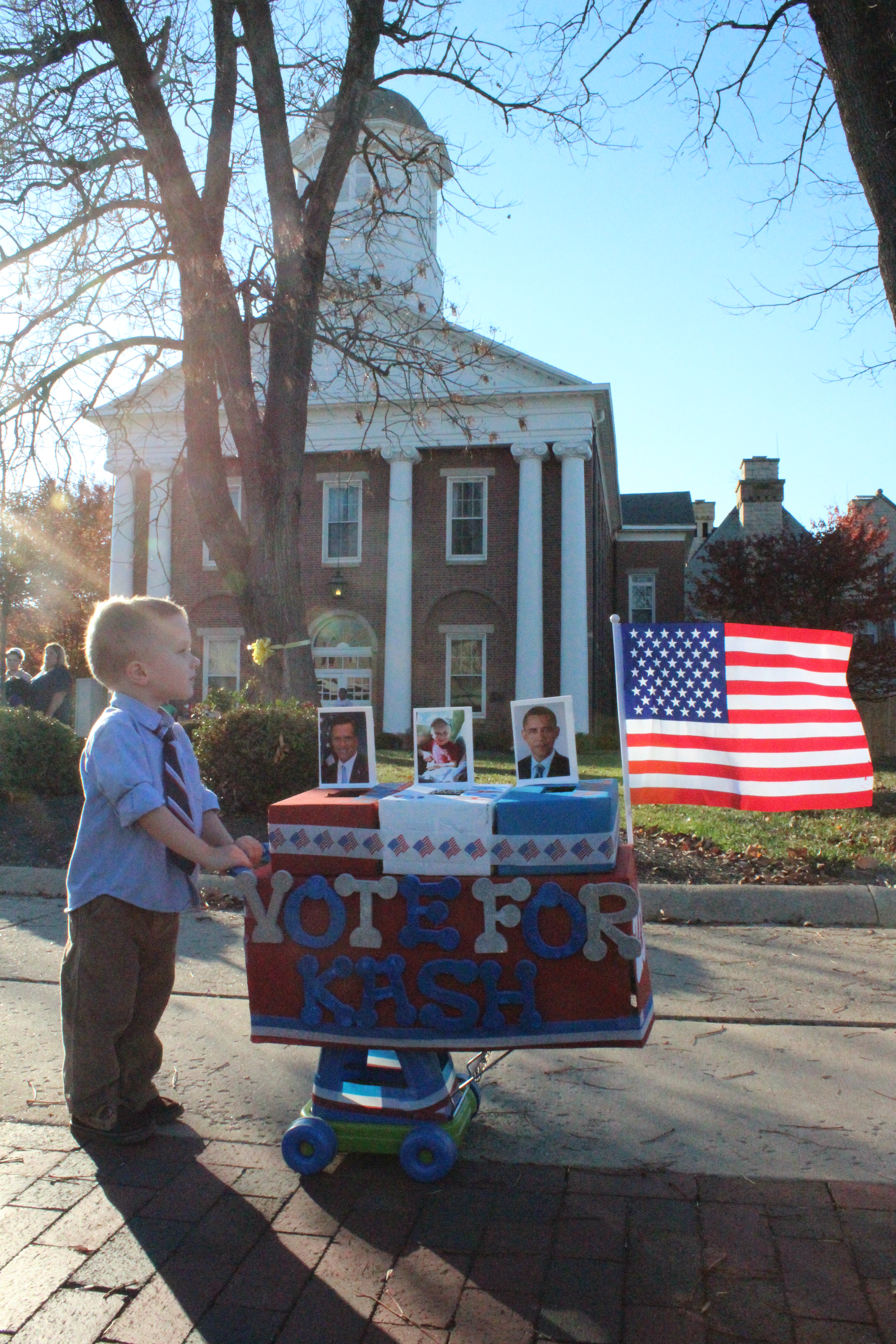 Picture of A Third (and More Appropriate) Presidential Candidate With Candy Voting Booth
