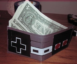 NES controller duct tape wallet