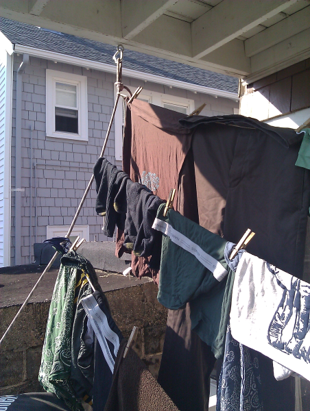 Climbing Rope Based Porch Clothes Dryer