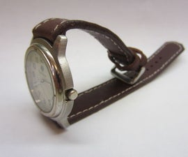 Make a Real Leather Watch Strap!
