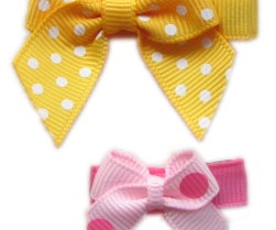How To Make Hair bow Instruction--Mini Bow Hair Clips