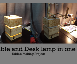 Table and desk lamp in one