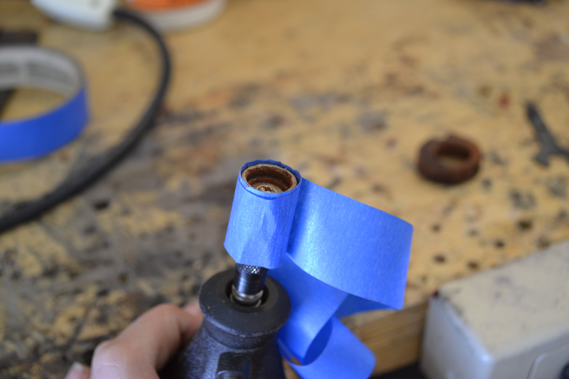 Picture of Fit the Ring Unto the Dremel.