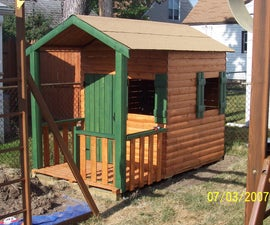 Build a log cabin Playhouse for under $300