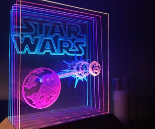 Animated Star Wars CNC LED Lamp Arduino Controlled