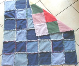 Denim Frayed Lap Quilt