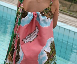 Vintage Souvenir Scarf Dress