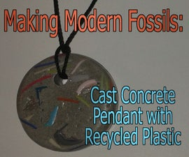 Cast Concrete Pendant with Recycled Plastic