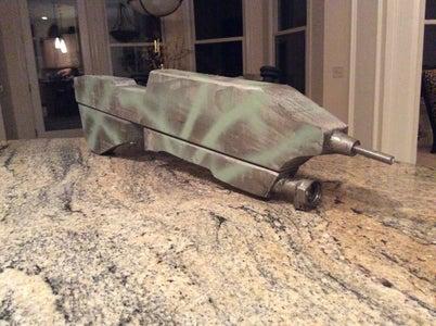 Easy Wooden Non-shooting Halo Assault Rifle Replica