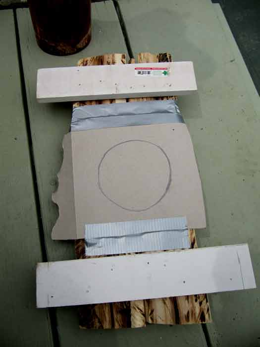 Picture of Feet: Tape Template to Bottom of Feet (2 Min)