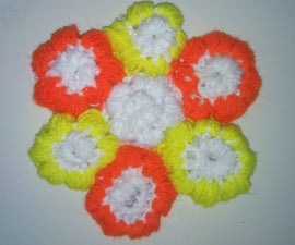 Puff Stitch Crochet Flowers