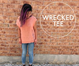 Easy to Knit Wrecked Tee