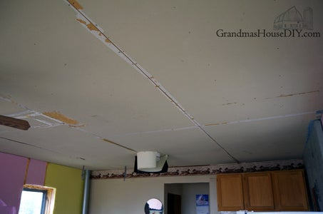 Covering Up a Very Ugly Ceiling With Styrofoam Ceiling Tiles
