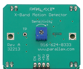 Making sort of palatable music with an X-Band motion sensor