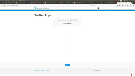 Create a Twitter App