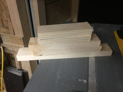 Making the Bottom Shelves to the Easels