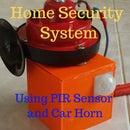 Arduino PIR Security System Using Car Horn