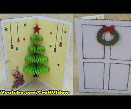 How to make 3D Christmas Pop Up Card