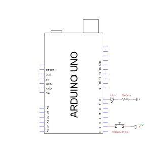 Button LED Input/Output Circuit