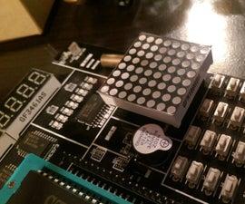 INTERFACING AN 8X8 DOT MATRIX LED DISPLAY WITH AN AT89C51 MICROCONTROLLER