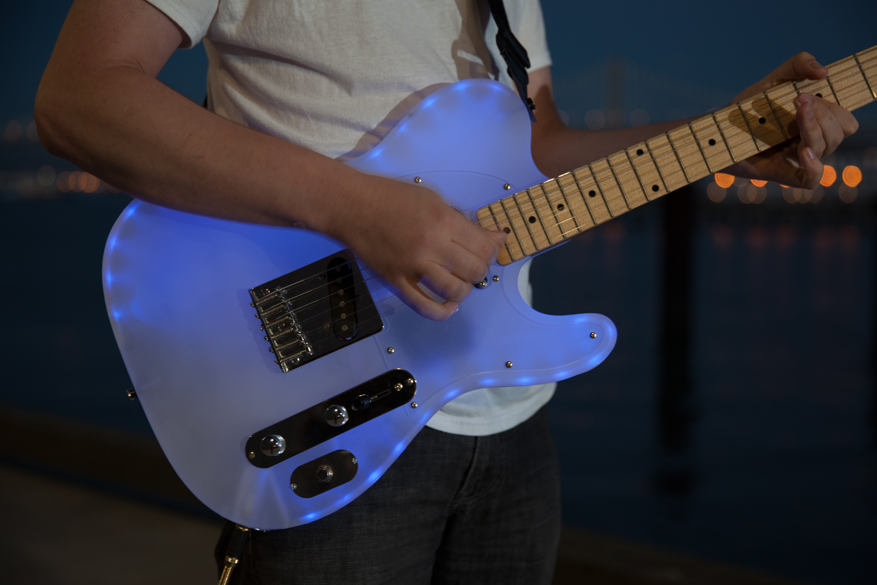Picture of Glowing Color-Changing Guitar