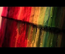 Giant 4 x 4' Melted Crayon Painting Art