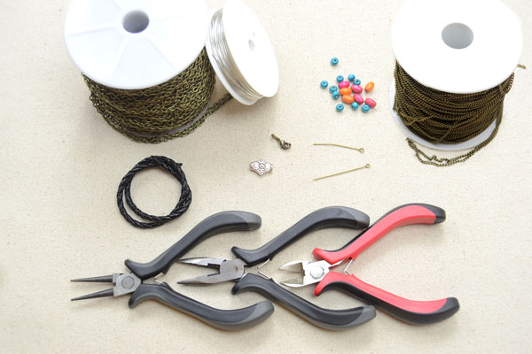 Picture of Supplies Needed for Making the Cool Leather Bracelets: