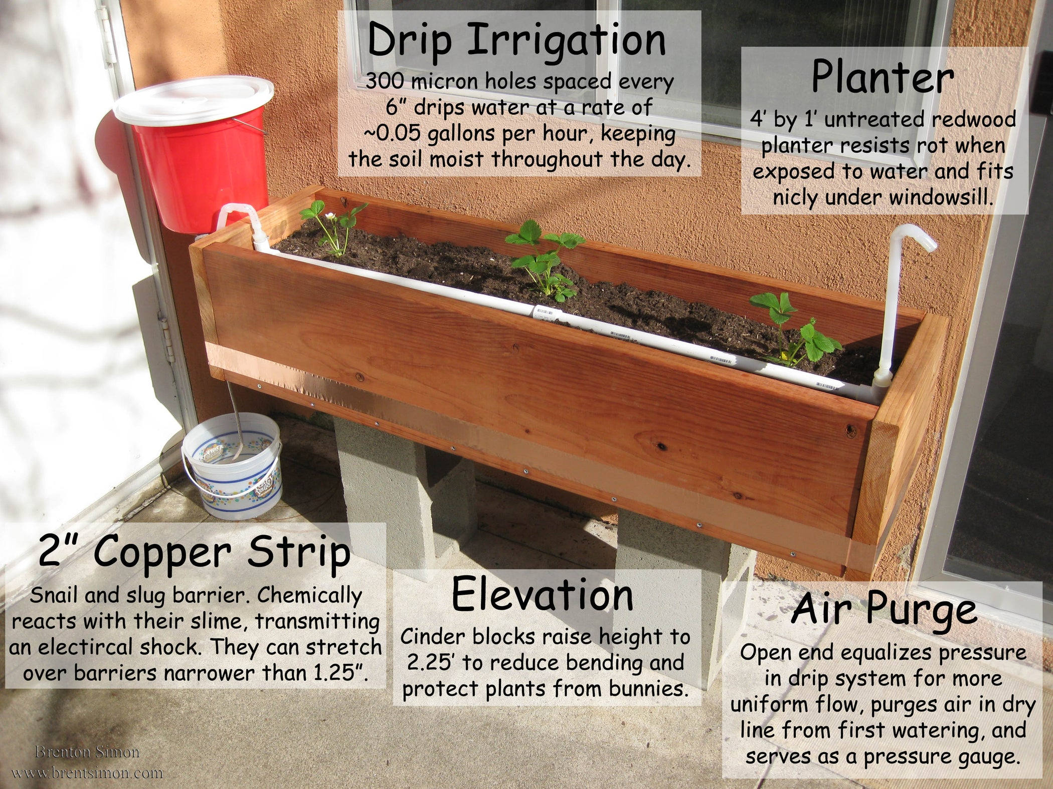 Passive Gravity Irrigated Planter 16 Steps With Pictures